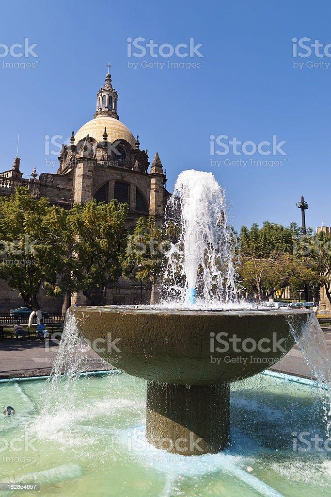 Plaza de Liberacion Guadelajara, Mexico royalty-free stock photo