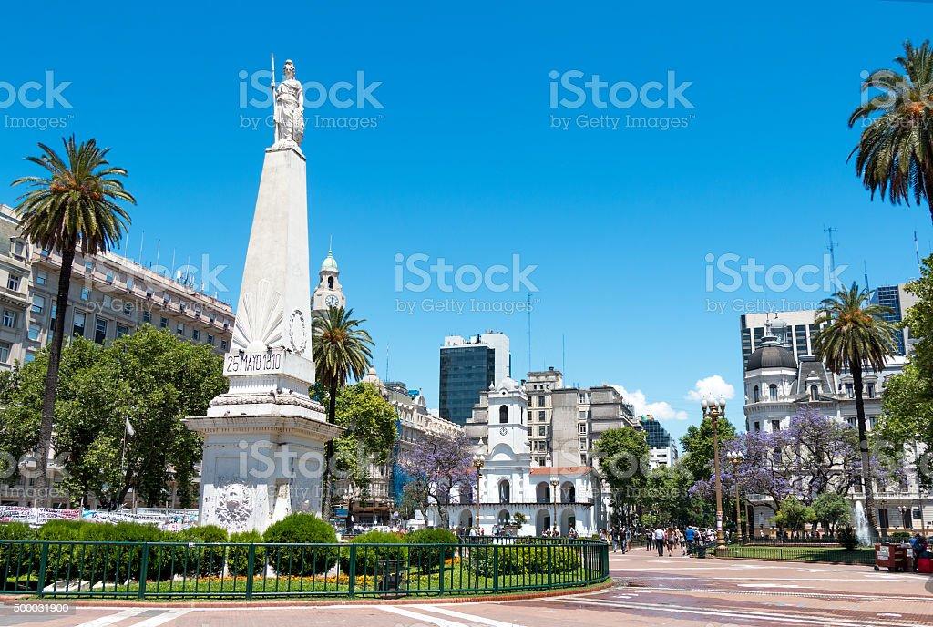 Plaza de Mayo, Buenos Aires Argentinien stock photo