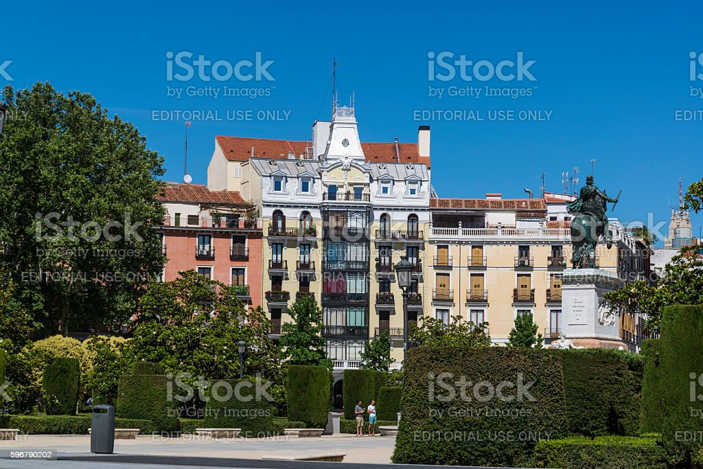 Plaza de Oriente, Madrid, Spain stock photo