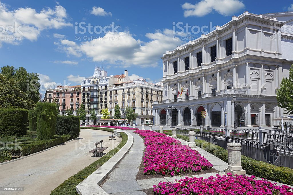 Plaza de Oriente royalty-free stock photo