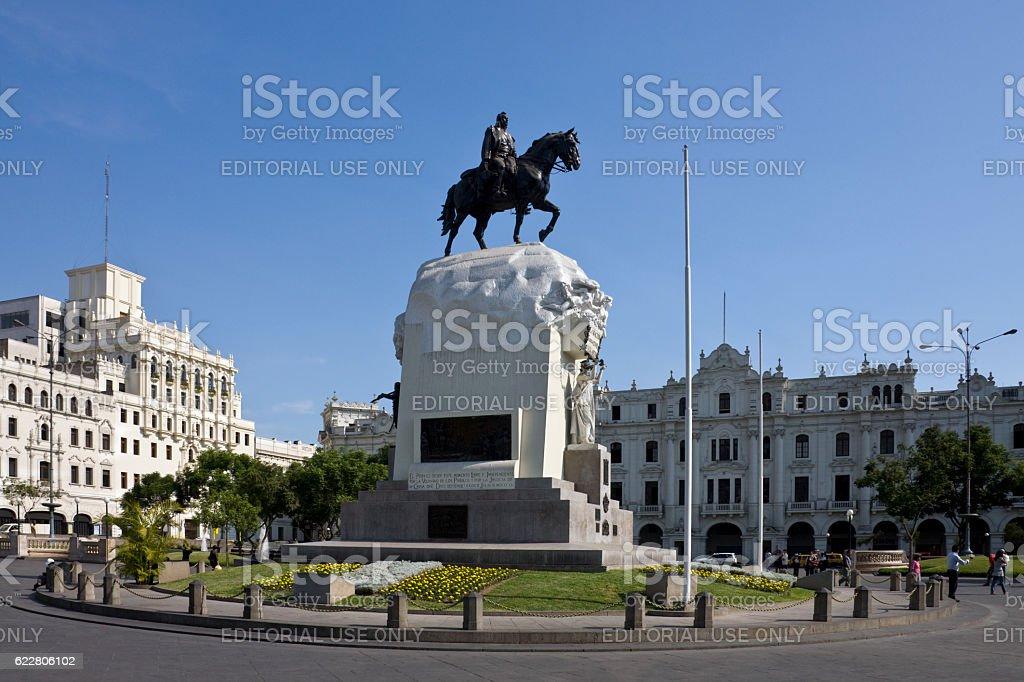 Plaza de San Martin - Lima - Peru stock photo