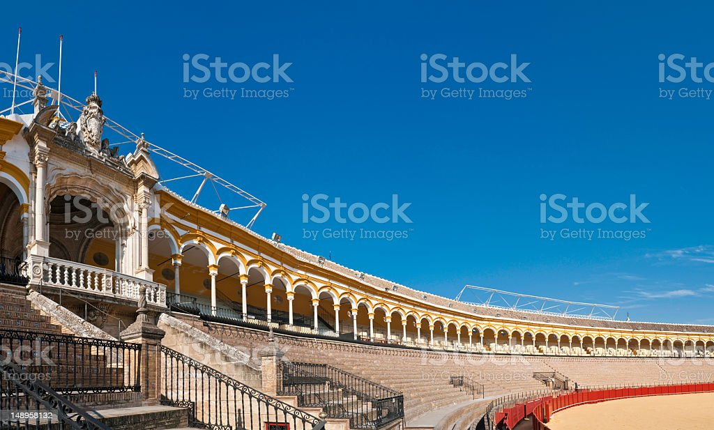 Plaza de Toros blue Andalusia sky Seville royalty-free stock photo
