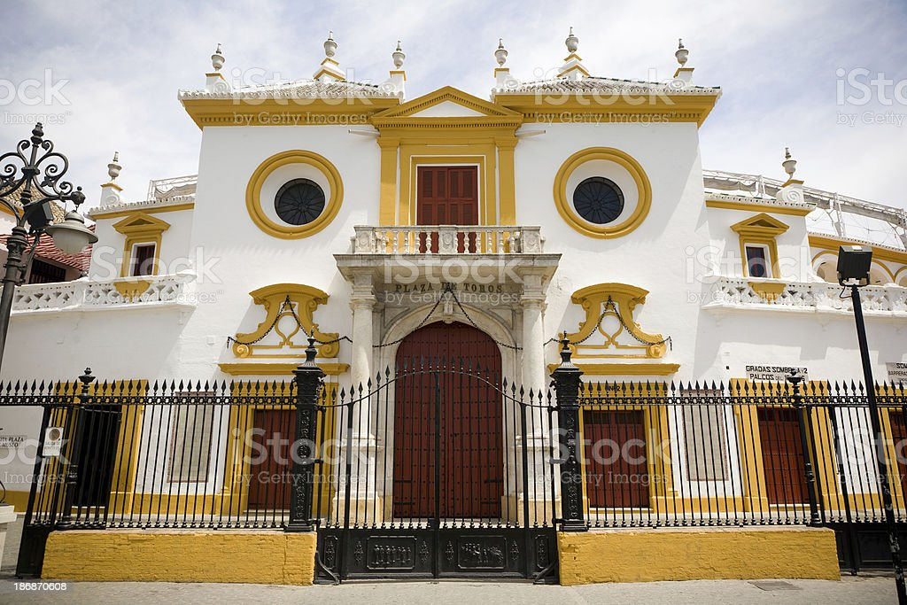 Plaza de Toros in Seville royalty-free stock photo