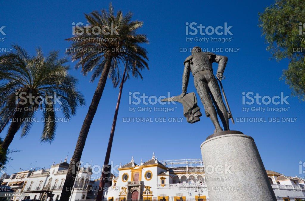 Plaza de Toros in Seville, Spain stock photo