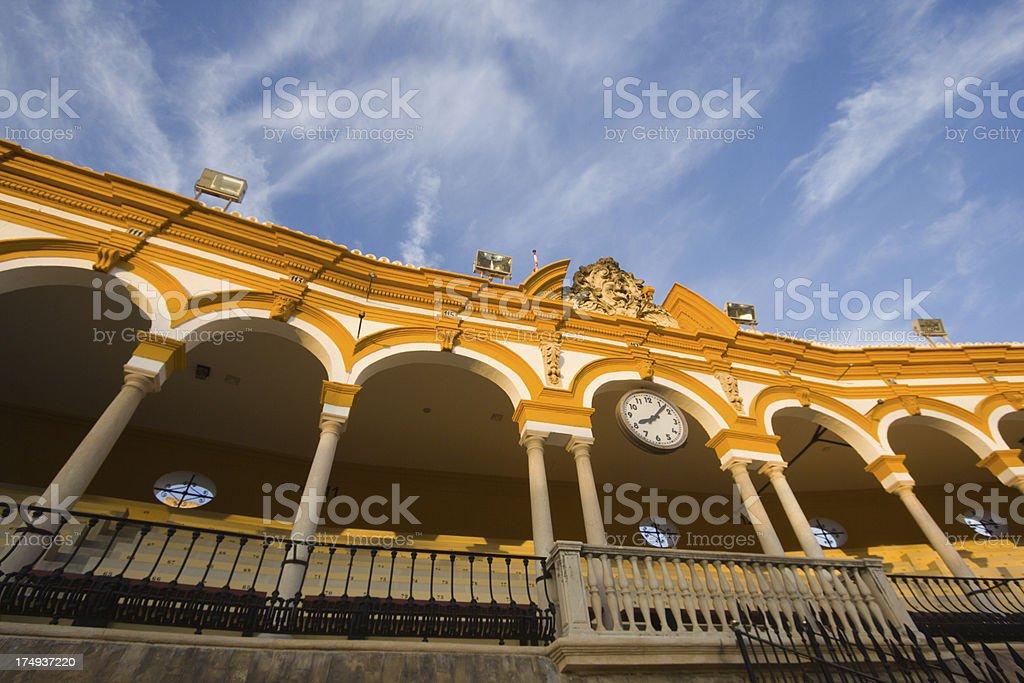 Plaza de Toros in Seville, Spain royalty-free stock photo
