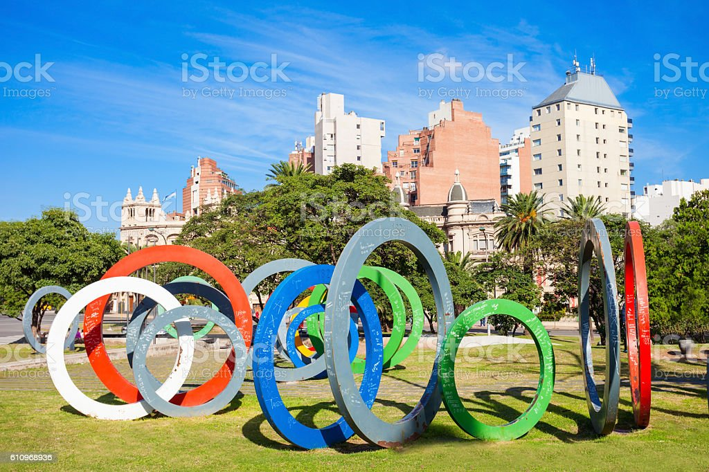 Plaza del Bicentenario, Cordoba stock photo