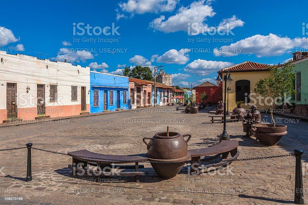 Plaza del Carmen, Camagüey, Cuba stock photo