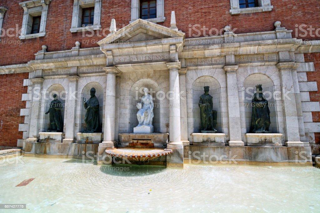 Plaza del Colegio del Patriarca, Valencia stock photo