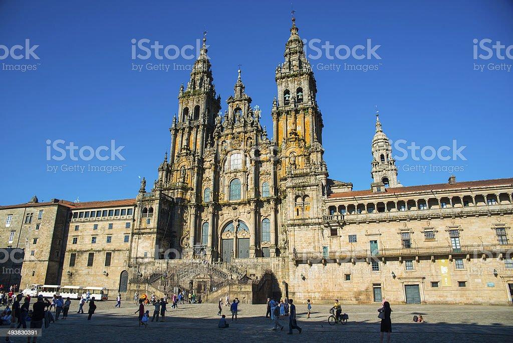 Plaza del Obradoiro y Catedral. Santiago de Compostela. La Coru?a. stock photo