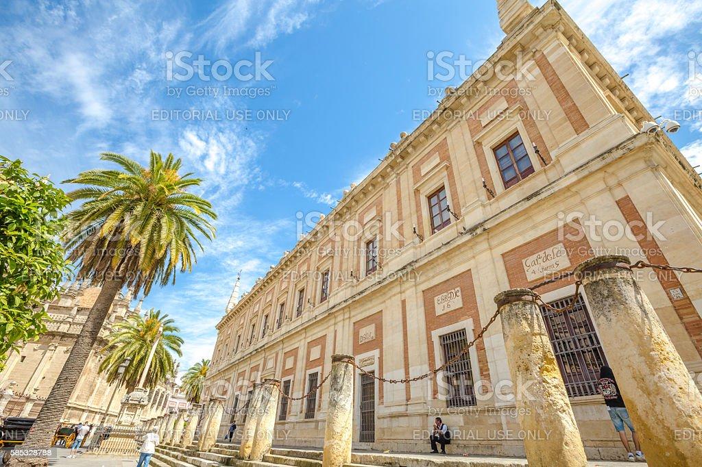 Plaza del Triunfo Seville stock photo