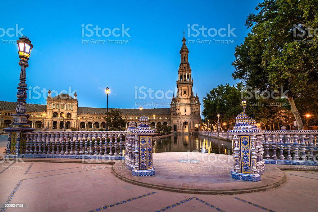 Plaza Espa?a at night royalty-free stock photo