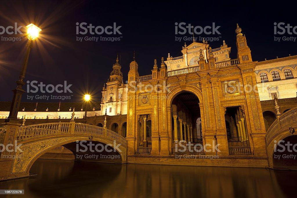 Plaza Espana at night royalty-free stock photo