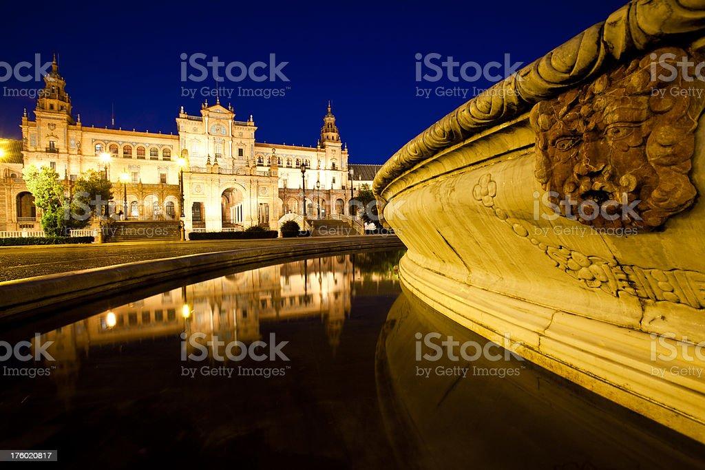 Plaza Espana in Sevilla royalty-free stock photo
