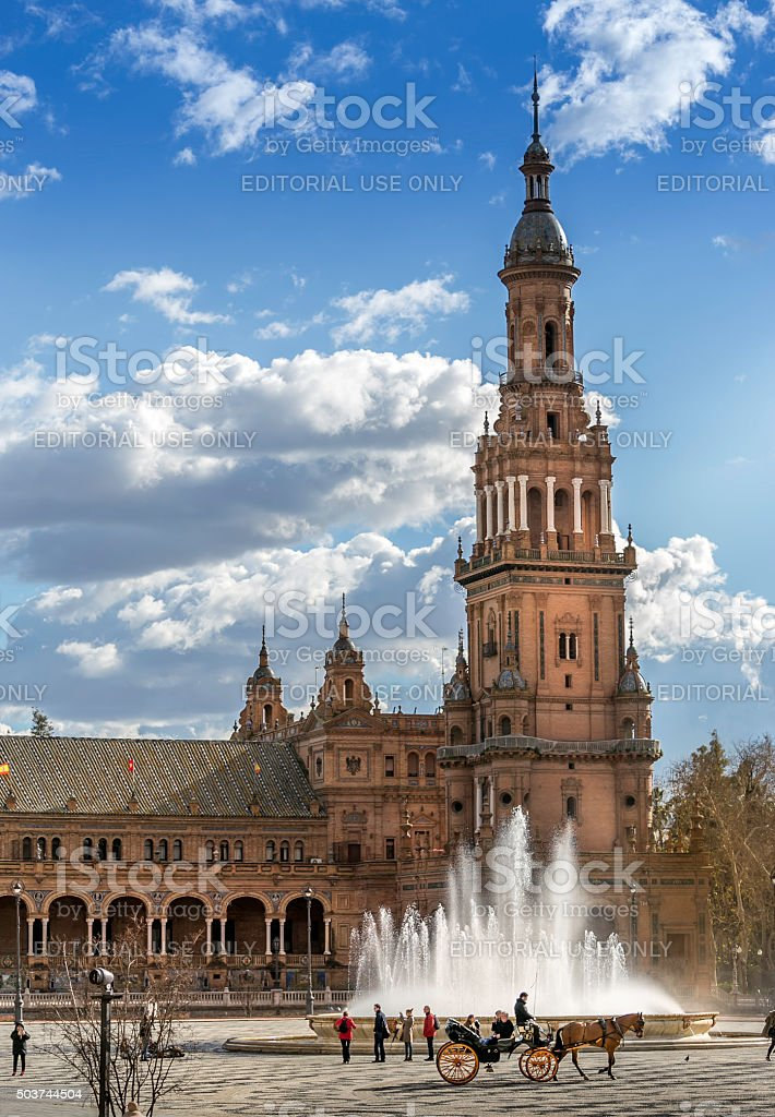 Plaza Espana in Seville stock photo