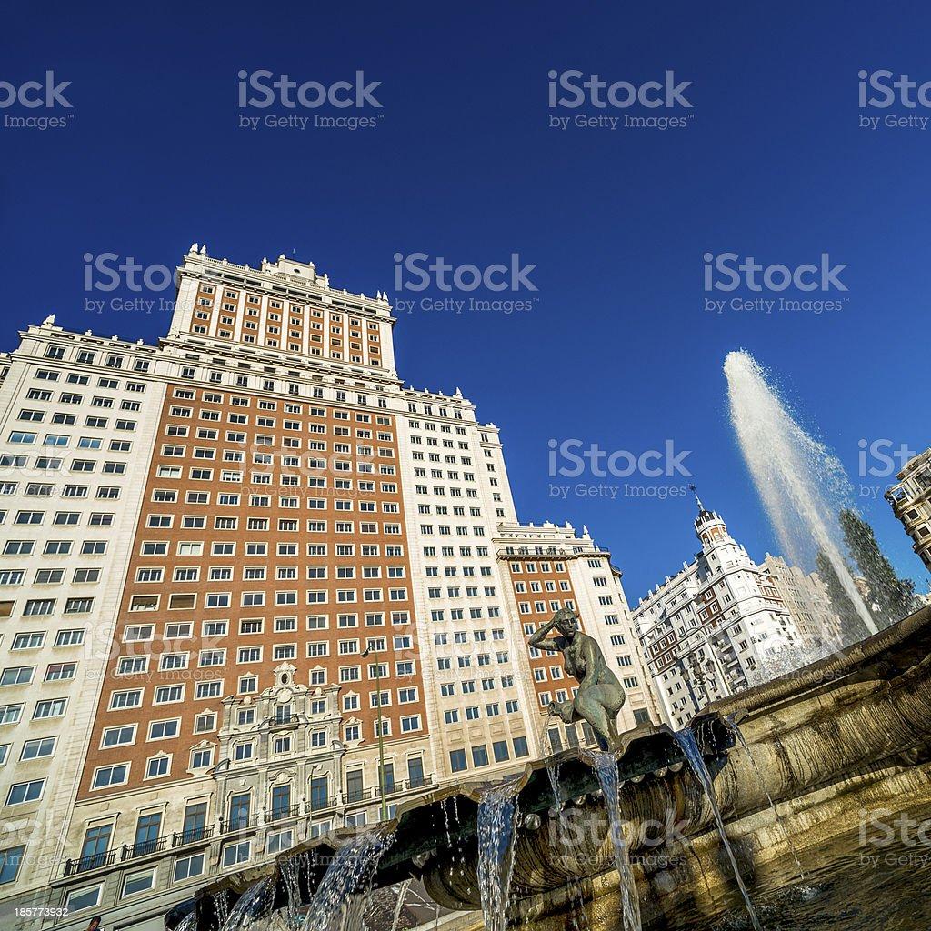 Plaza Espana, Madrid, Spain royalty-free stock photo