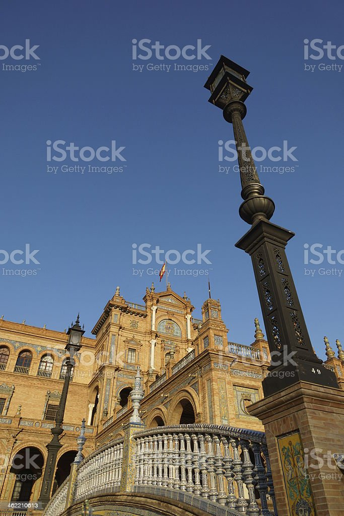 Plaza Espana, Sevilla stock photo