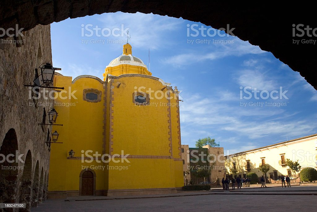 Plaza Framed by Archway royalty-free stock photo