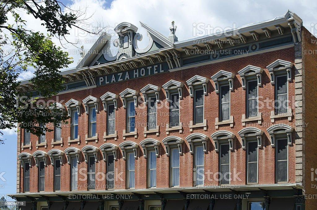 Plaza Hotel in Las Vegas, New Mexico stock photo