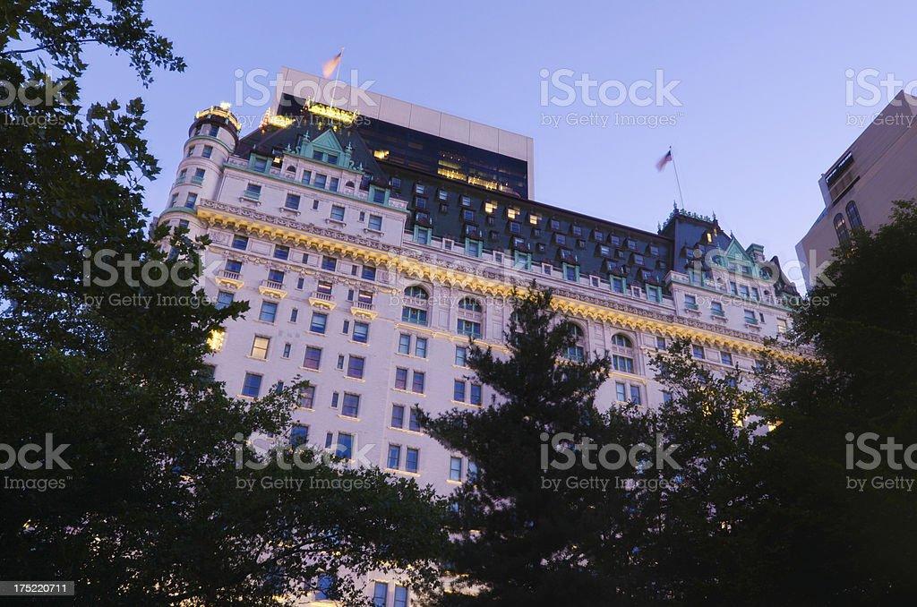 Plaza Hotel in New York City at night royalty-free stock photo