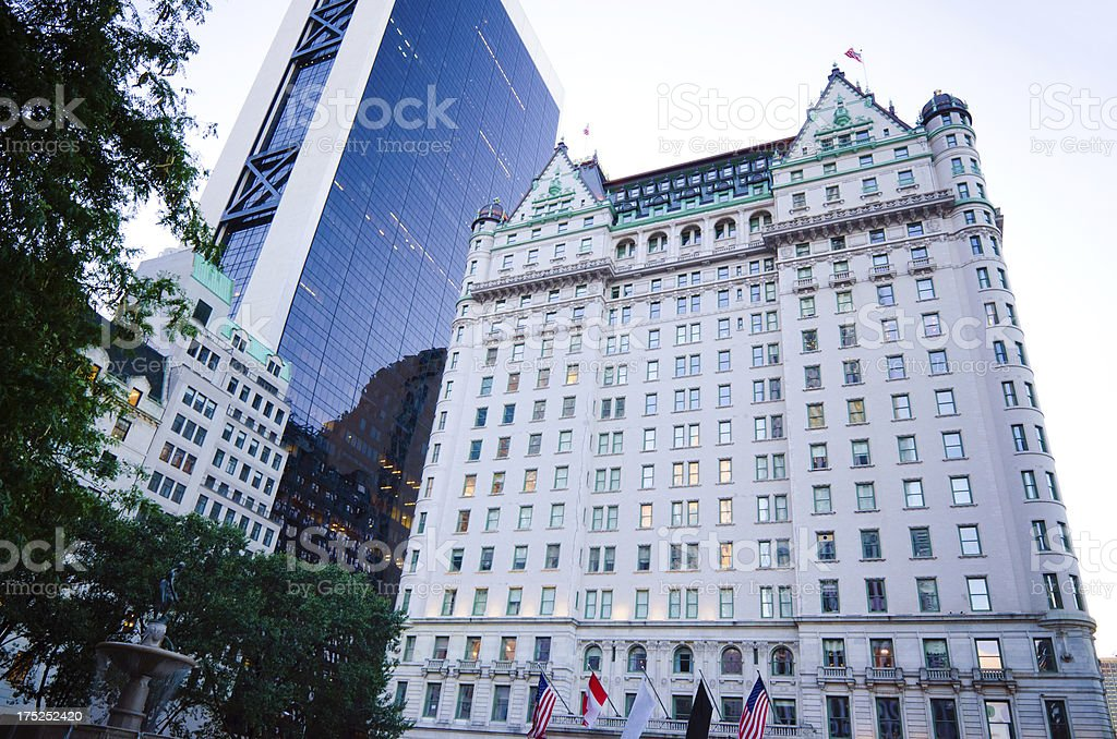 Plaza Hotel in New York City stock photo