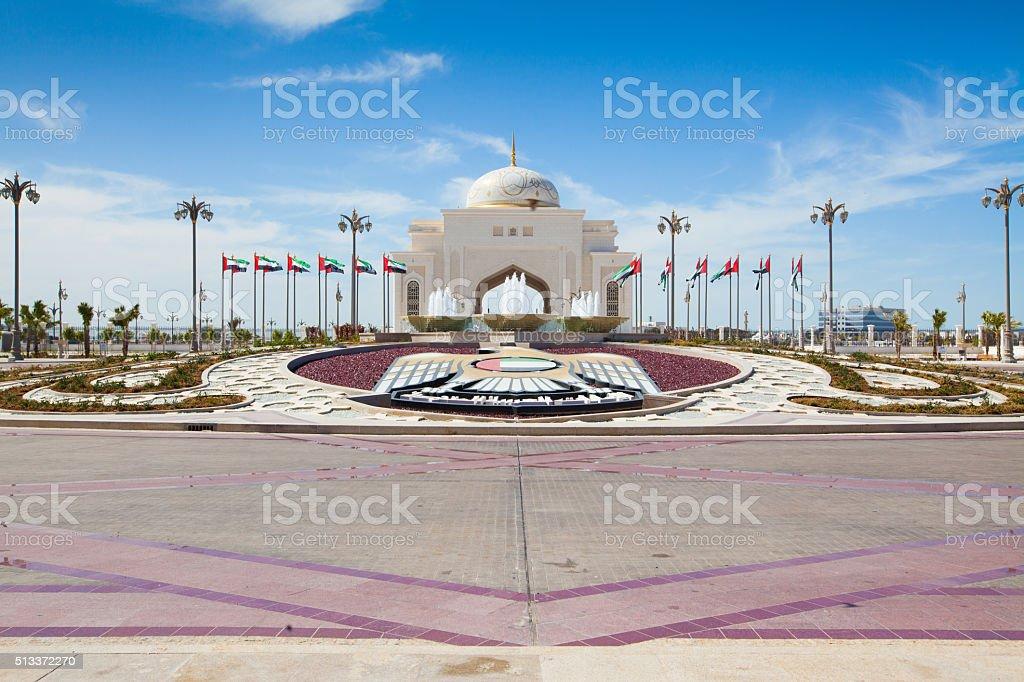 Plaza in Abu Dhabi stock photo