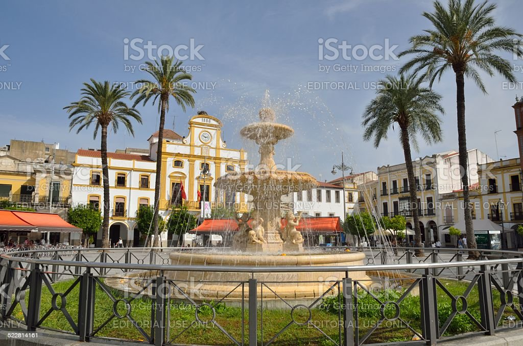 Plaza in Merida stock photo