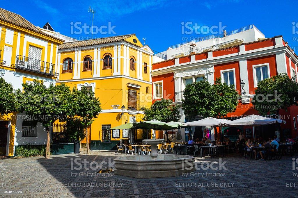 Plaza in Seville, Spain stock photo