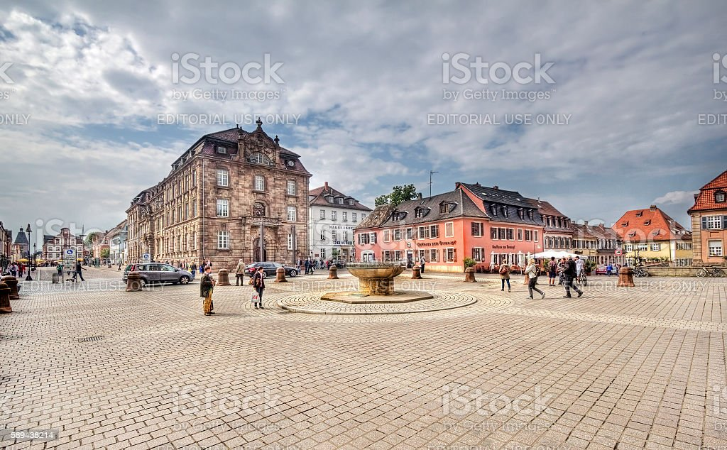 Plaza in Speyer, Germany stock photo