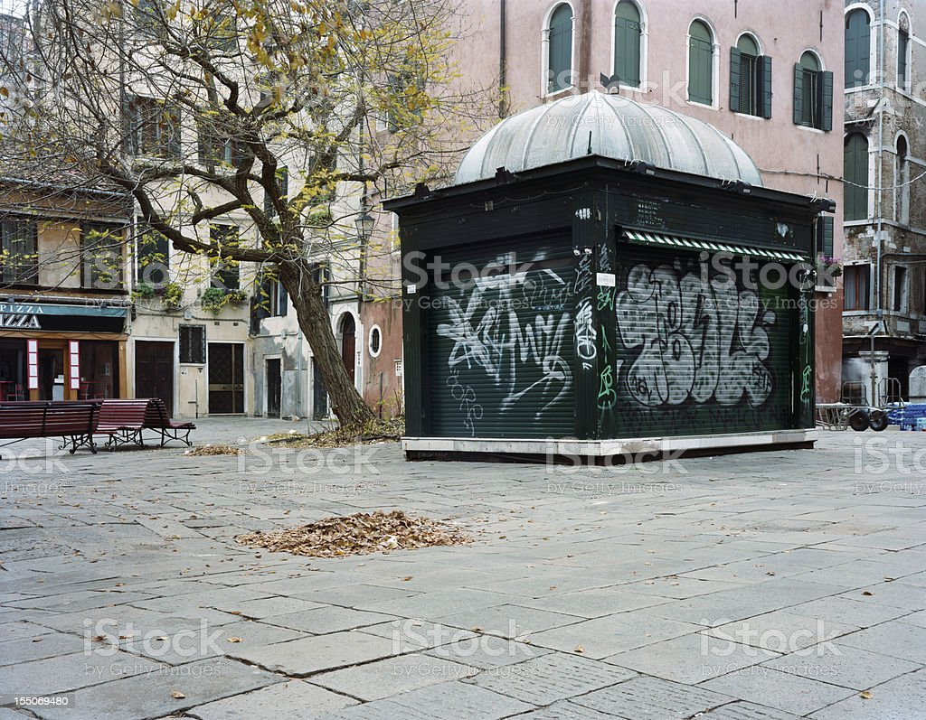 Plaza in Venice royalty-free stock photo