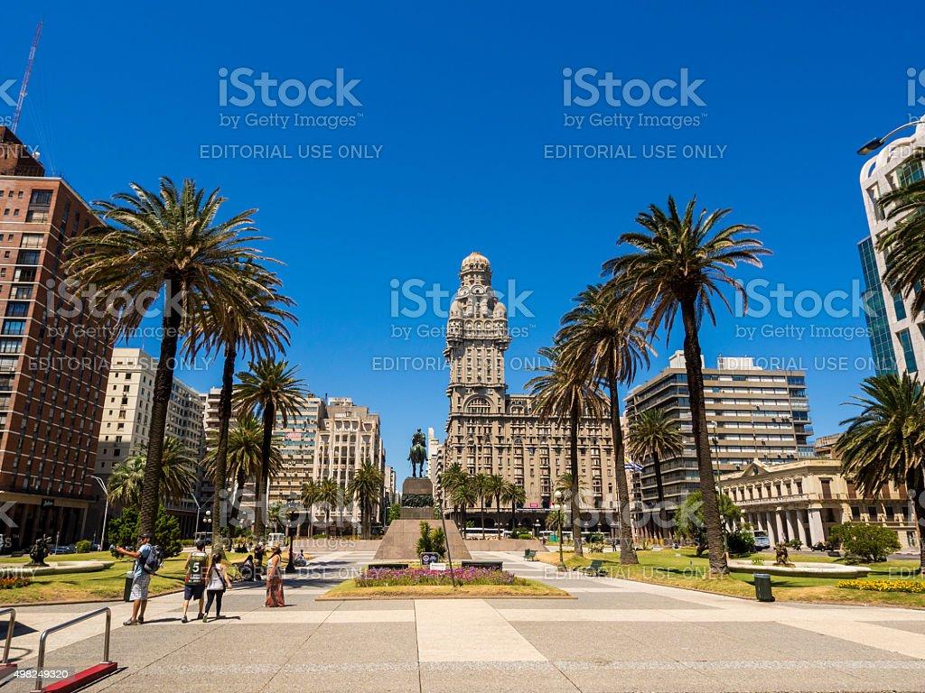 Plaza Independencia in Montevideo, Uruguay stock photo