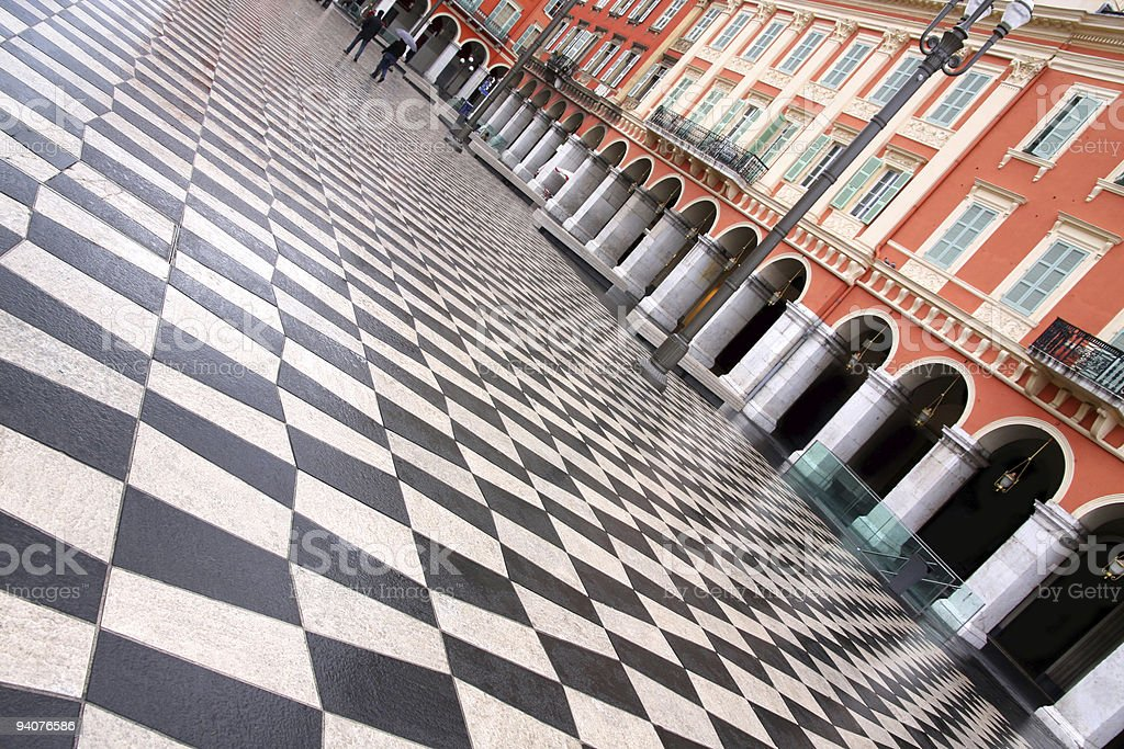 plaza Massena royalty-free stock photo