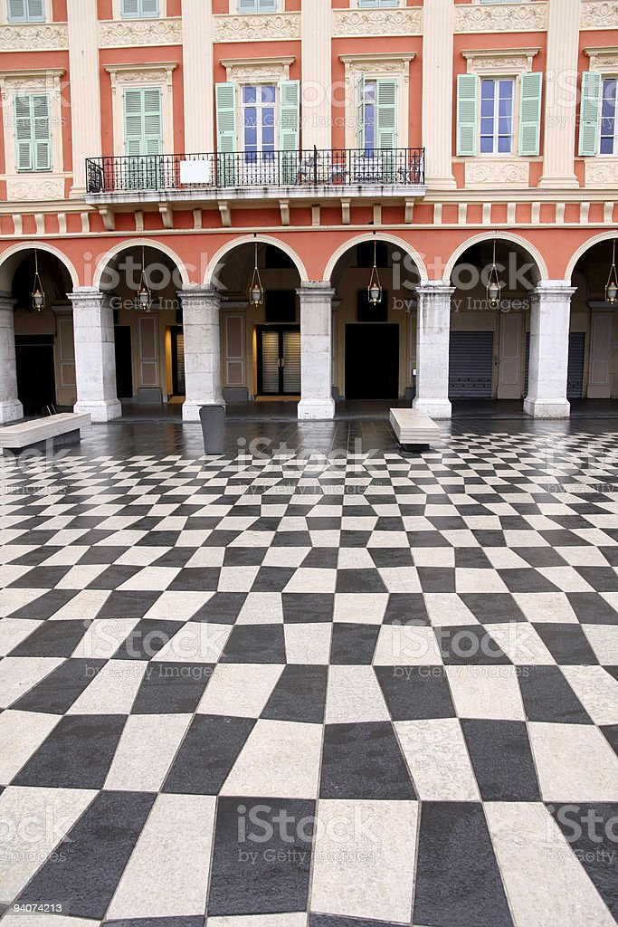 plaza Massena Square royalty-free stock photo