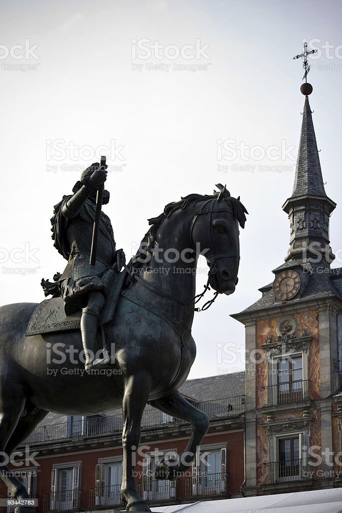 Plaza Mayor in Madrid royalty-free stock photo