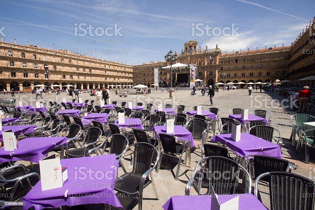 Plaza Mayor in Salamanca, Spain stock photo