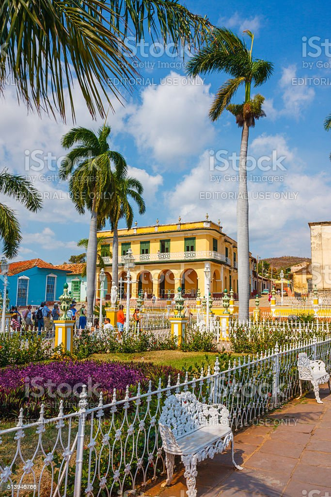 Plaza Mayor in Trinidad Cuba stock photo