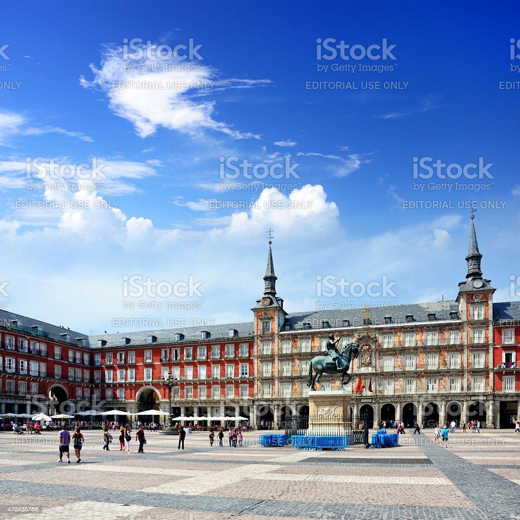 Plaza Mayor, Madrid stock photo
