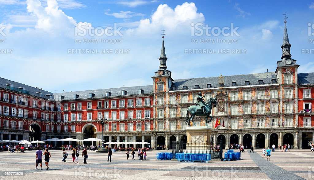 Plaza Mayor, Madrid stock photo