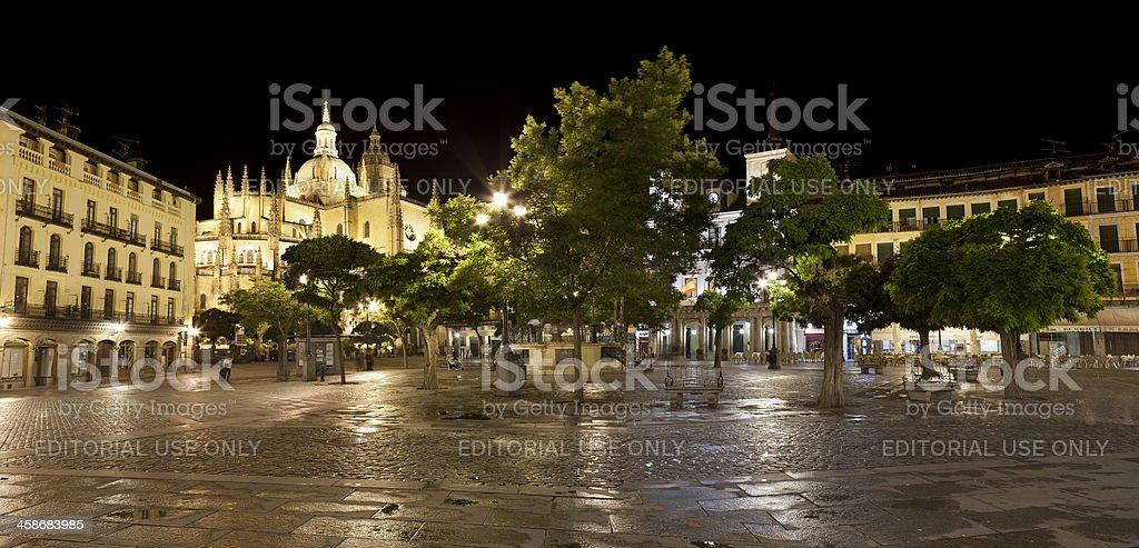 Plaza Mayor of Segovia (Castilla,Spain) royalty-free stock photo
