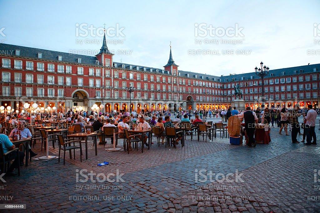 Plaza Mayor, The Main Square, Madrid, Spain stock photo