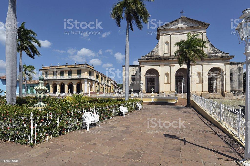 Plaza Mayor, Trinidad, Cuba stock photo