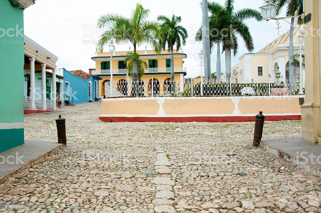 Plaza Mayor - Trinidad - Cuba stock photo