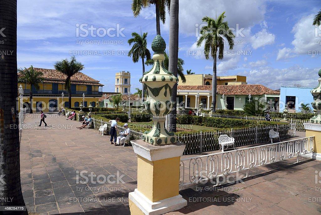 Plaza Mayor, Trinidad de Cuba stock photo