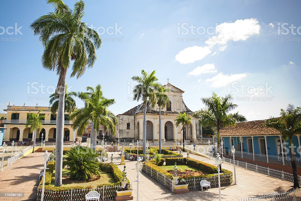 Plaza Mayor, Trinidad stock photo