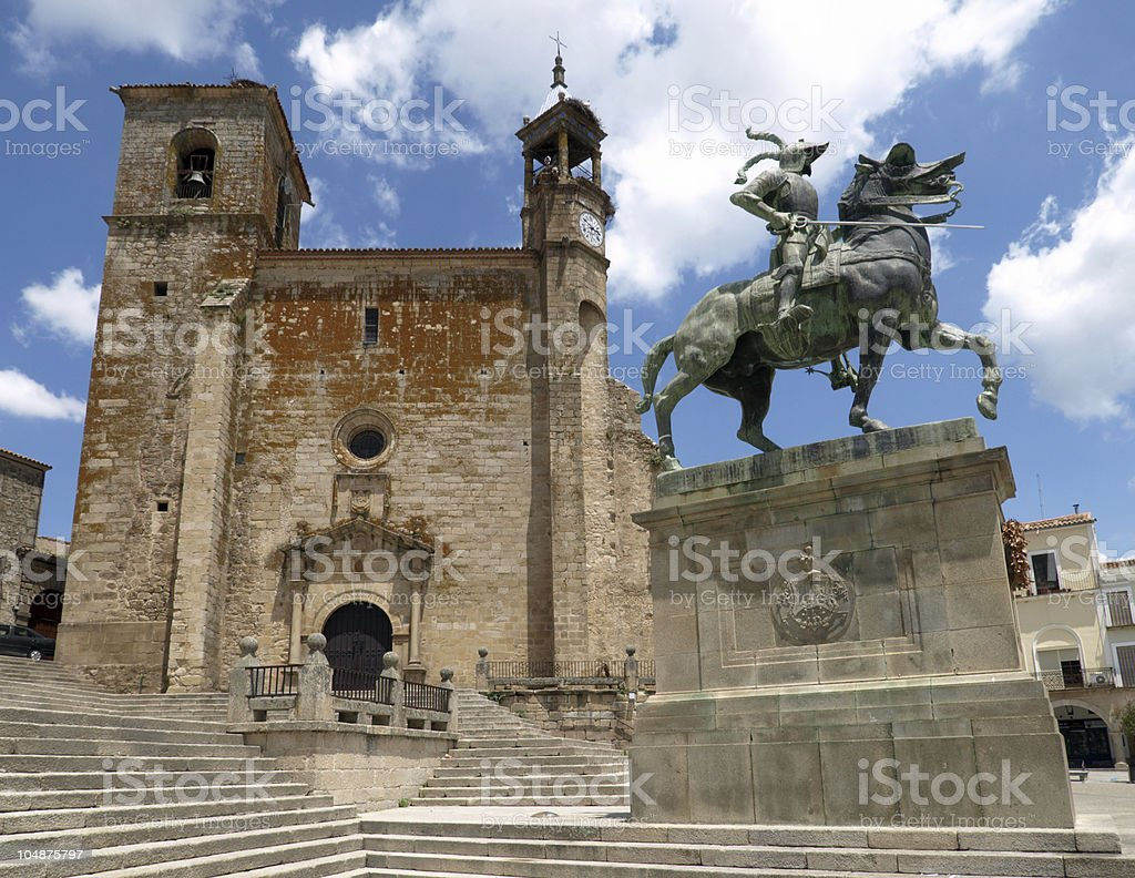 Plaza Mayor, Trujillo stock photo