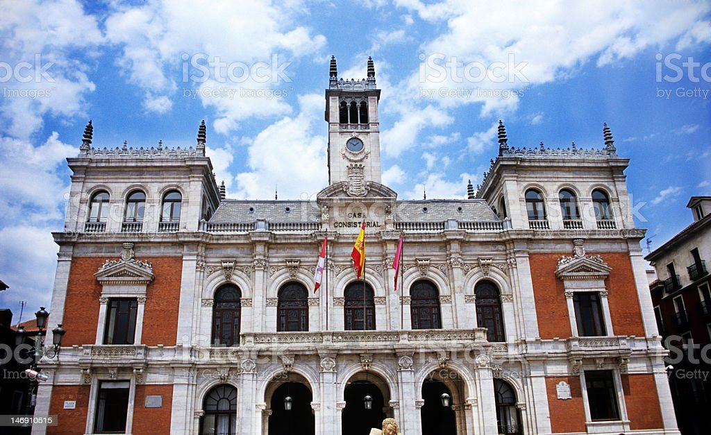 Plaza Mayor Valladolid stock photo
