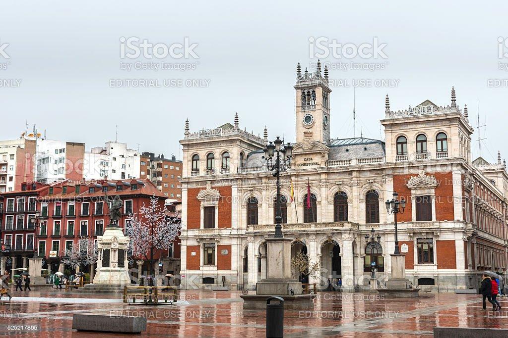 Plaza Mayor, Valladolid stock photo