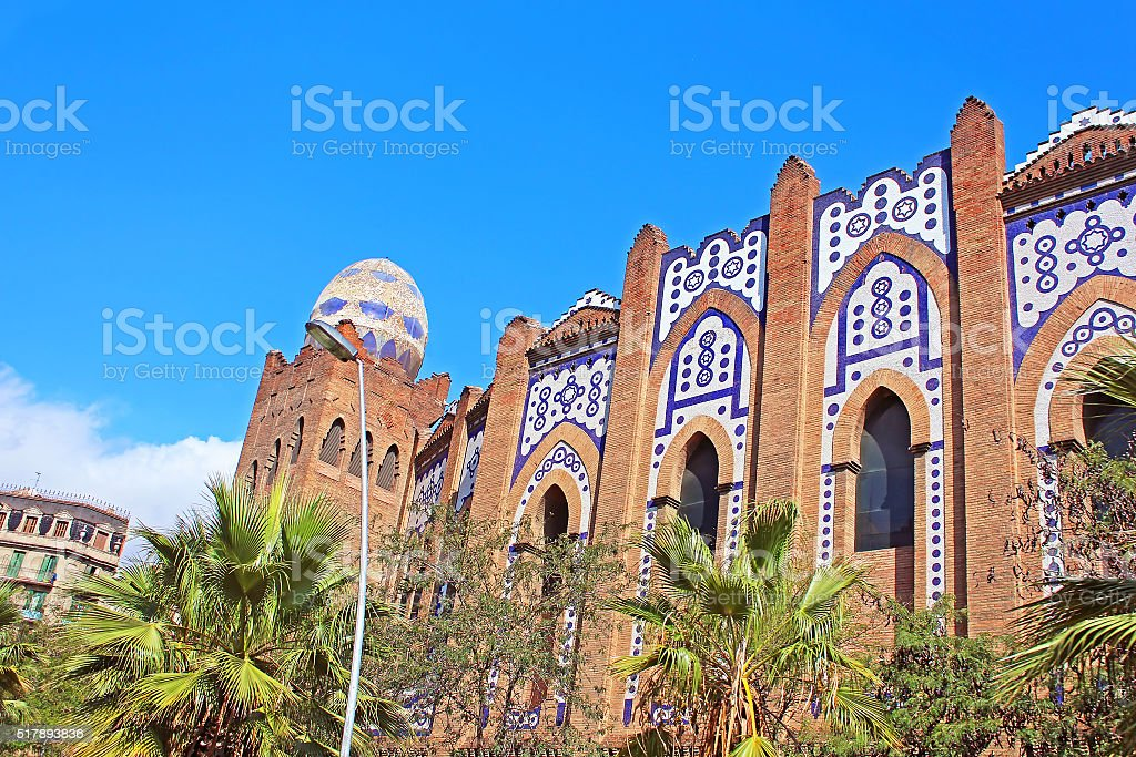 Plaza Monumental is a bullring in Barcelona, Spain stock photo