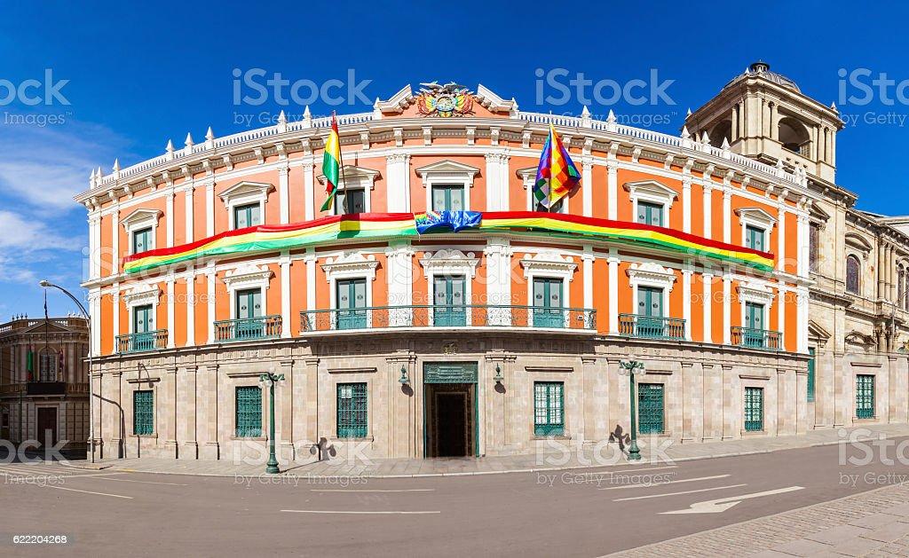 Plaza Murillo, LaPaz stock photo