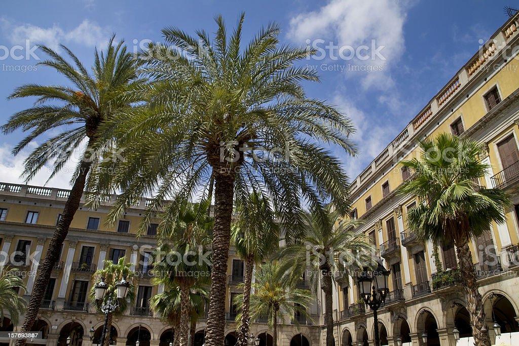 Plaza Real Barcelona Spain royalty-free stock photo