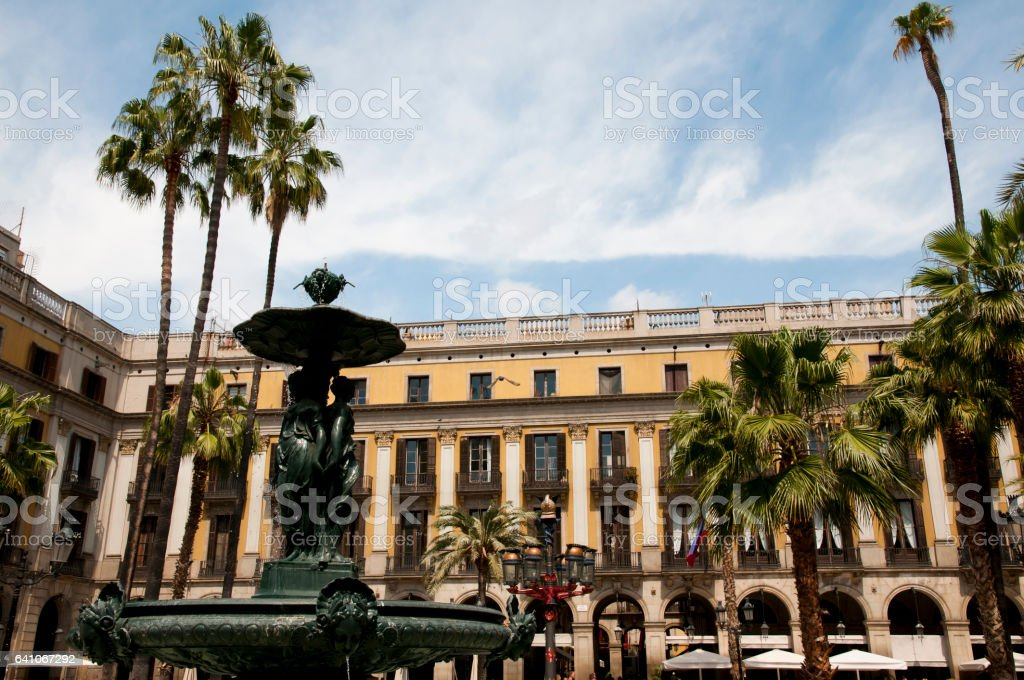 Plaza Real - Barcelona - Spain stock photo